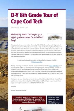 D-Y 8th Grade Tour of Cape Cod Tech
