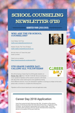 School Counseling Newsletter (FIS)