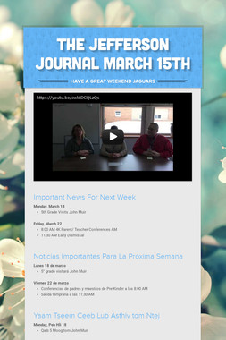 The Jefferson Journal March 15th