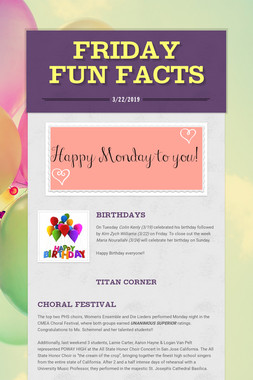 Friday Fun Facts