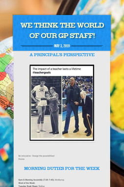 We Think the World of our GP Staff!