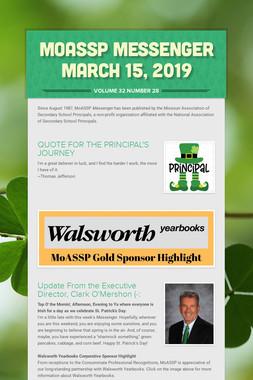 MoASSP Messenger March 15, 2019