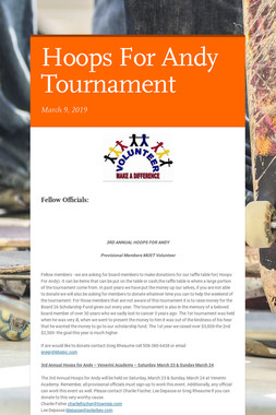 Hoops For Andy Tournament