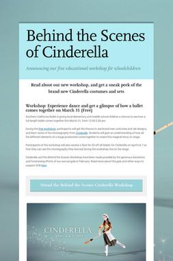 Behind the Scenes of Cinderella