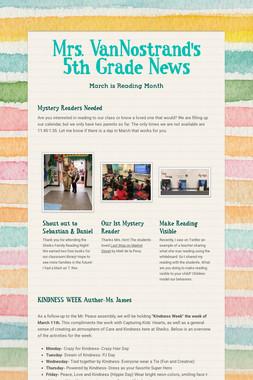 Mrs. VanNostrand's 5th Grade News