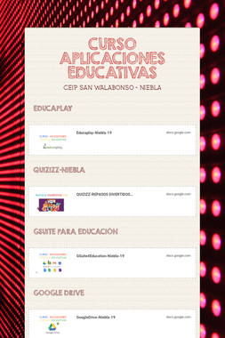 CURSO APLICACIONES EDUCATIVAS