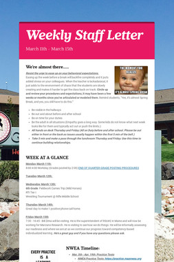 Weekly Staff Letter