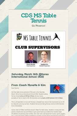 CDS MS Table Tennis