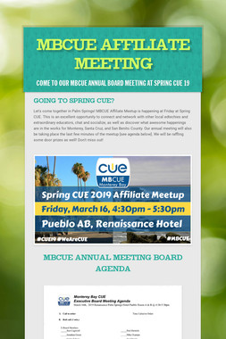 MBCUE Affiliate Meeting
