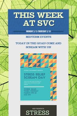 This Week at SVC
