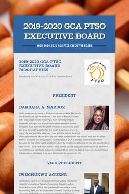 2019-2020 GCA PTSO Executive Board