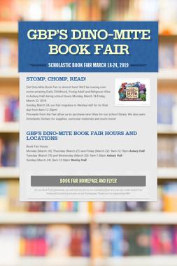 GBP's Dino-Mite Book Fair
