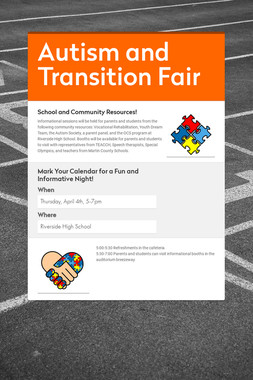 Autism and Transition Fair