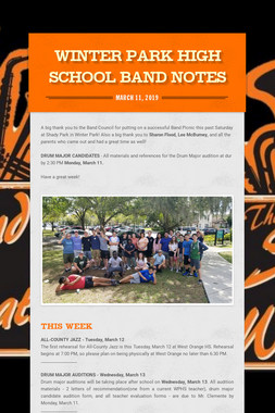 Winter Park High School Band Notes
