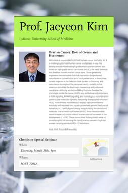 Prof. Jaeyeon Kim