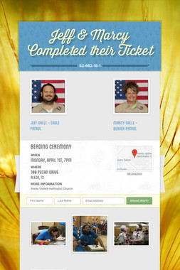 Jeff & Marcy Completed their Ticket