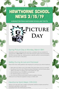 Hawthorne School News 3/15/19