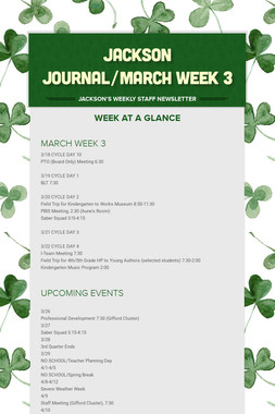 JACKSON JOURNAL/MARCH WEEK 3