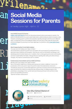 Social Media Sessions for Parents