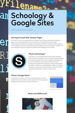 Schoology & Google Sites