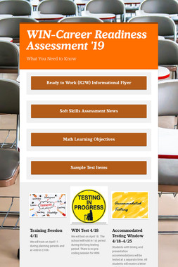 WIN-Career Readiness Assessment '19