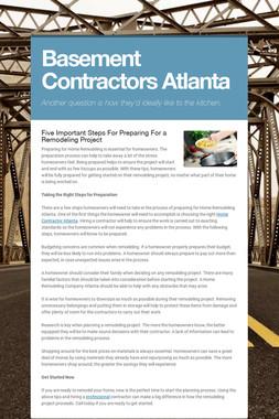Basement Contractors Atlanta