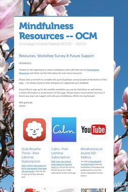 Mindfulness Resources -- OCM