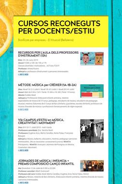 CURSOS RECONEGUTS PER DOCENTS/ESTIU