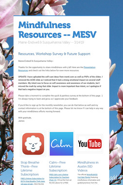 Mindfulness Resources -- MESV