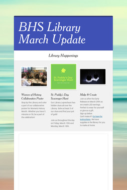 BHS Library March Update