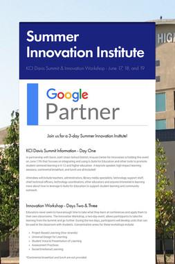 Summer Innovation Institute