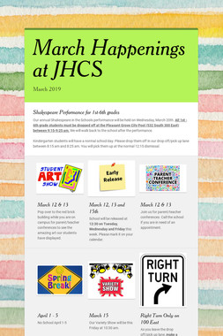 March Happenings at JHCS