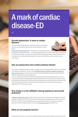 A mark of cardiac disease-ED