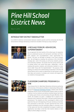 Pine Hill School District News