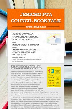 Jericho PTA Council Booktalk