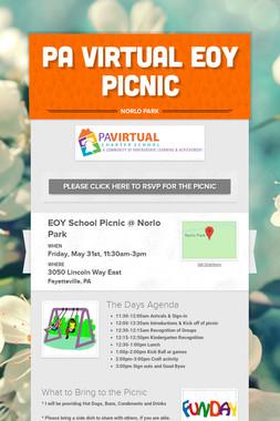 PA Virtual EOY Picnic