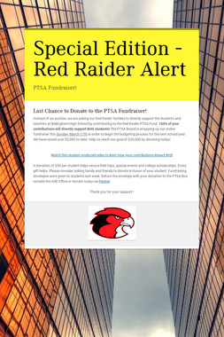 Special Edition - Red Raider Alert