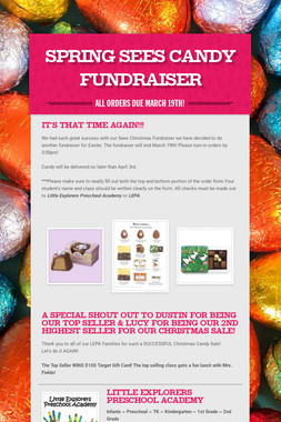 Spring Sees Candy Fundraiser