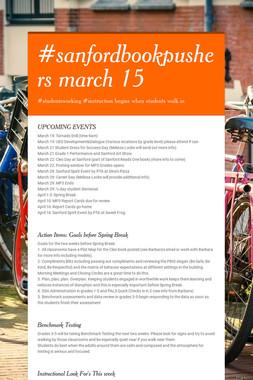 #sanfordbookpushers march 15