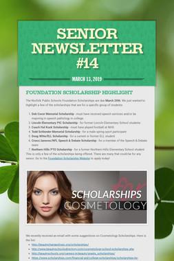 Senior Newsletter #14