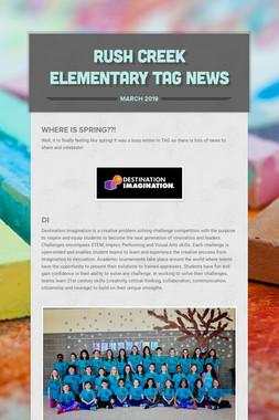 Rush Creek Elementary TAG News
