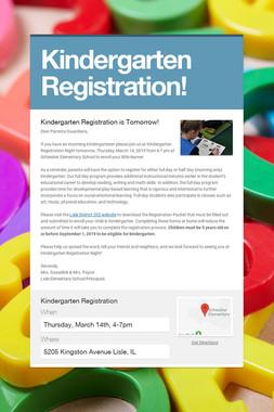 Kindergarten Registration!