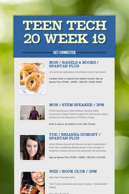 Teen Tech 20 Week 19