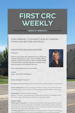 First CRC Weekly