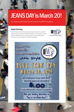 JEANS DAY is March 20!