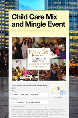 Child Care Mix and Mingle Event