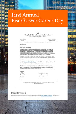 First Annual Eisenhower Career Day