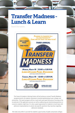 Transfer Madness - Lunch & Learn