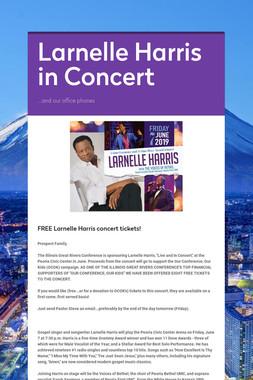 Larnelle Harris in Concert