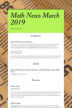 Math News March 2019